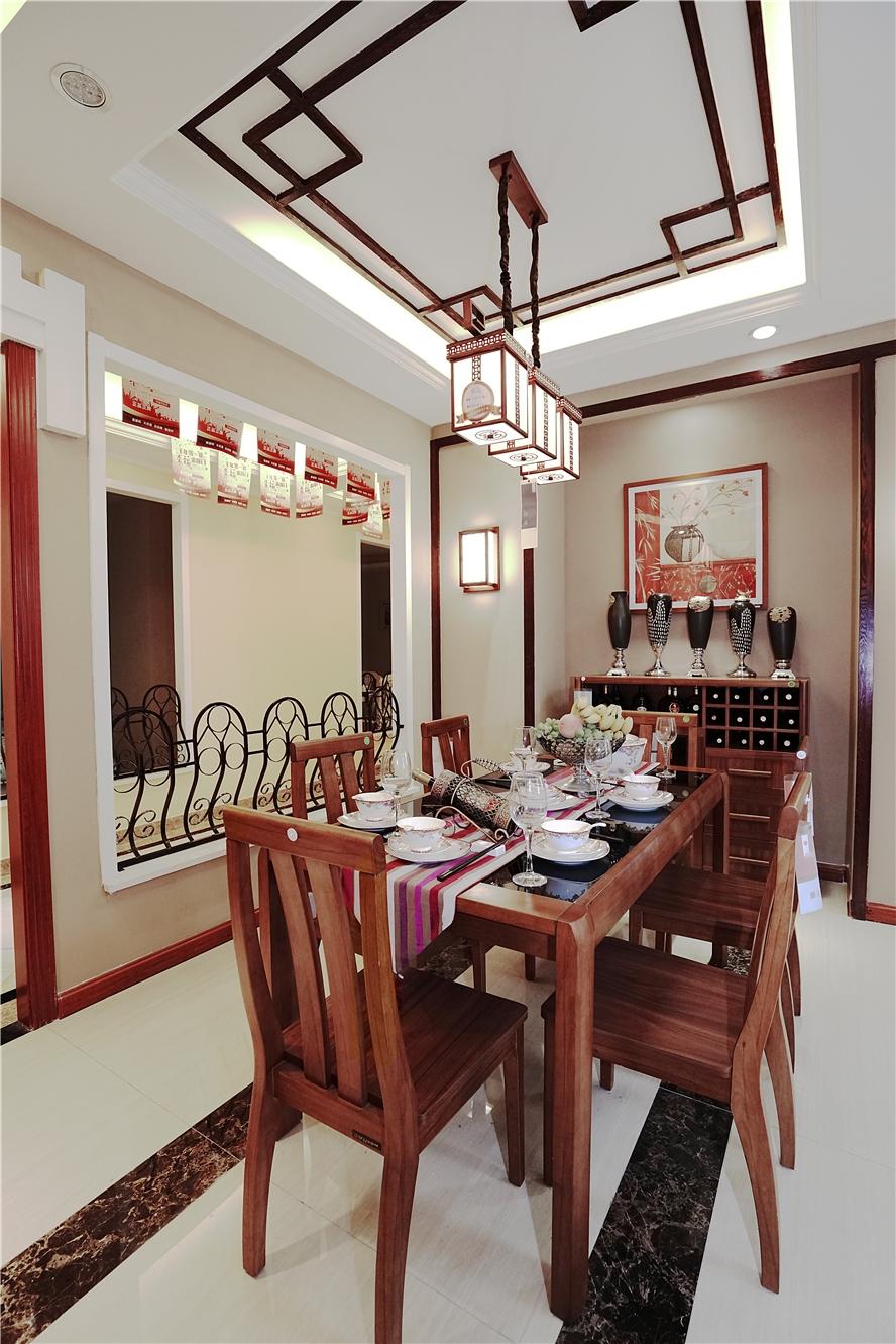中冶·一曲江山中式风格三居家装效果图