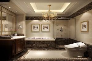 自在香山中式风格大户型家装效果图
