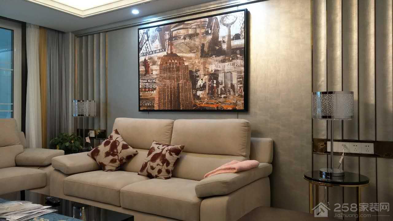 美好家园现代简约风格三居装修效果图