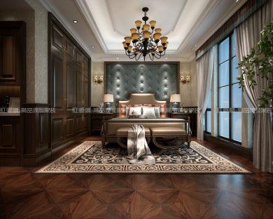 长乐渡别墅美式 家装效果图