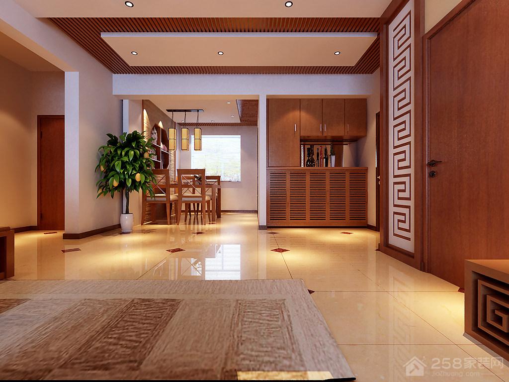 恒威国际城中式风格四居家装效果图
