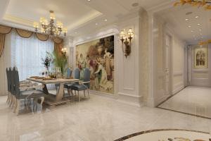 凯德汇豪时代欧式风格四居家装效果图