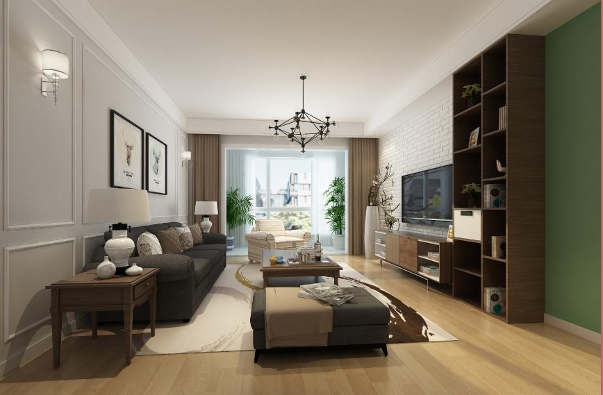 东方米兰国际城北欧风格三居家装效果图