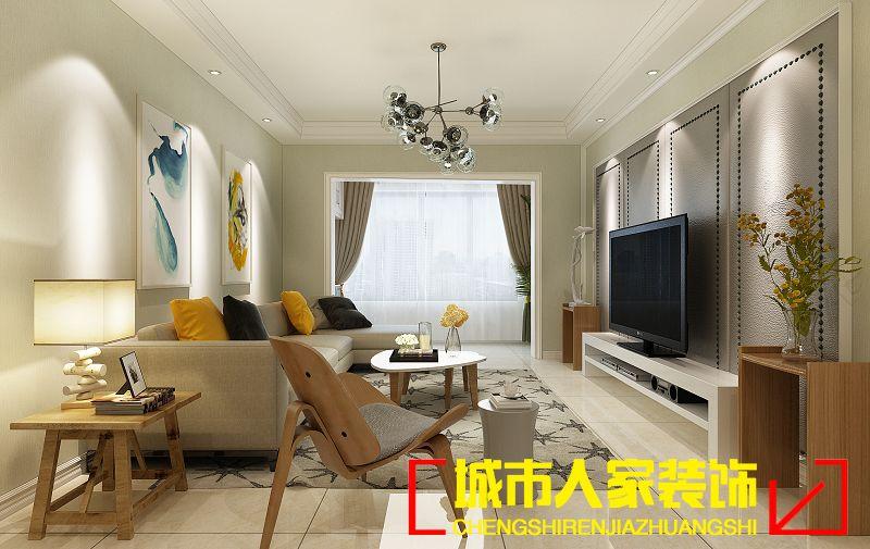 汉德九洲城现代简约风格三居装修效果图