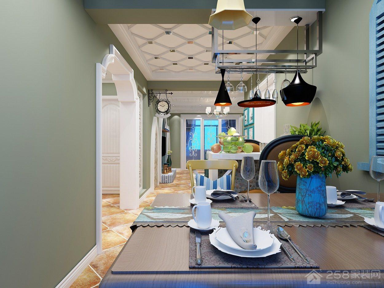 西班牙花园地中海风格三居家装效果图