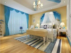 欧亚格林花园地中海风格四居家装效果图