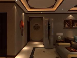 君悦海棠中式风格三居家装效果图