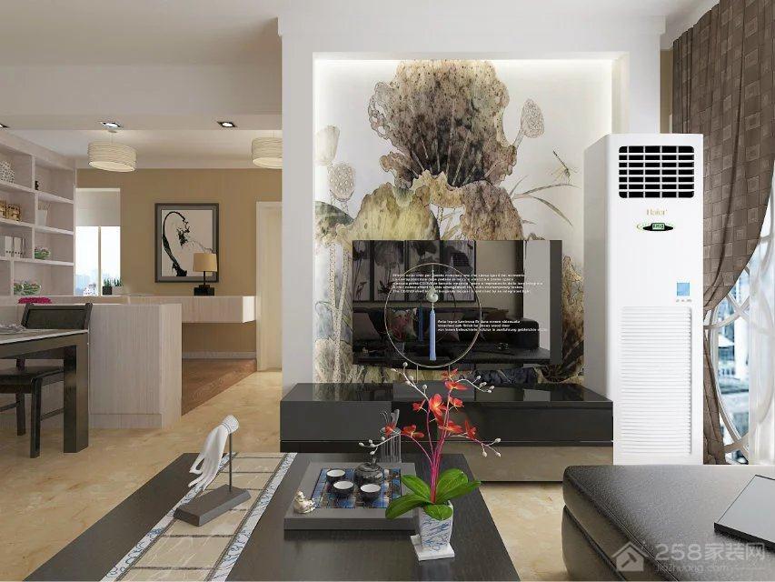 碧海蓝天中式风格三居家装效果图