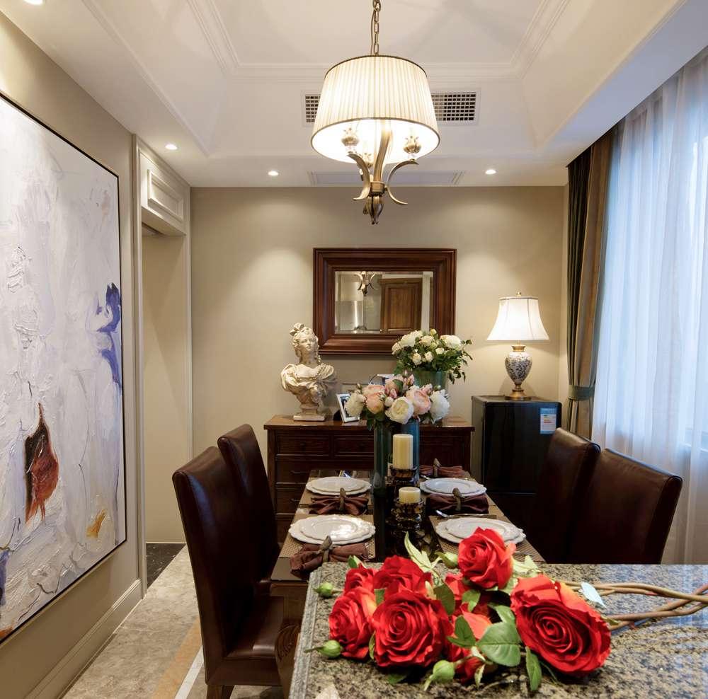 西水东美式风格三居家装效果图