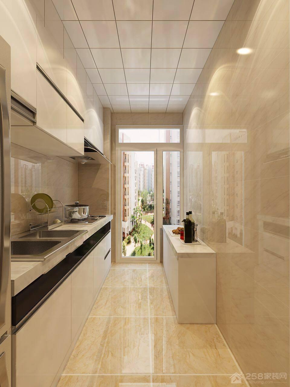 天洋城现代简约风格二居装修效果图