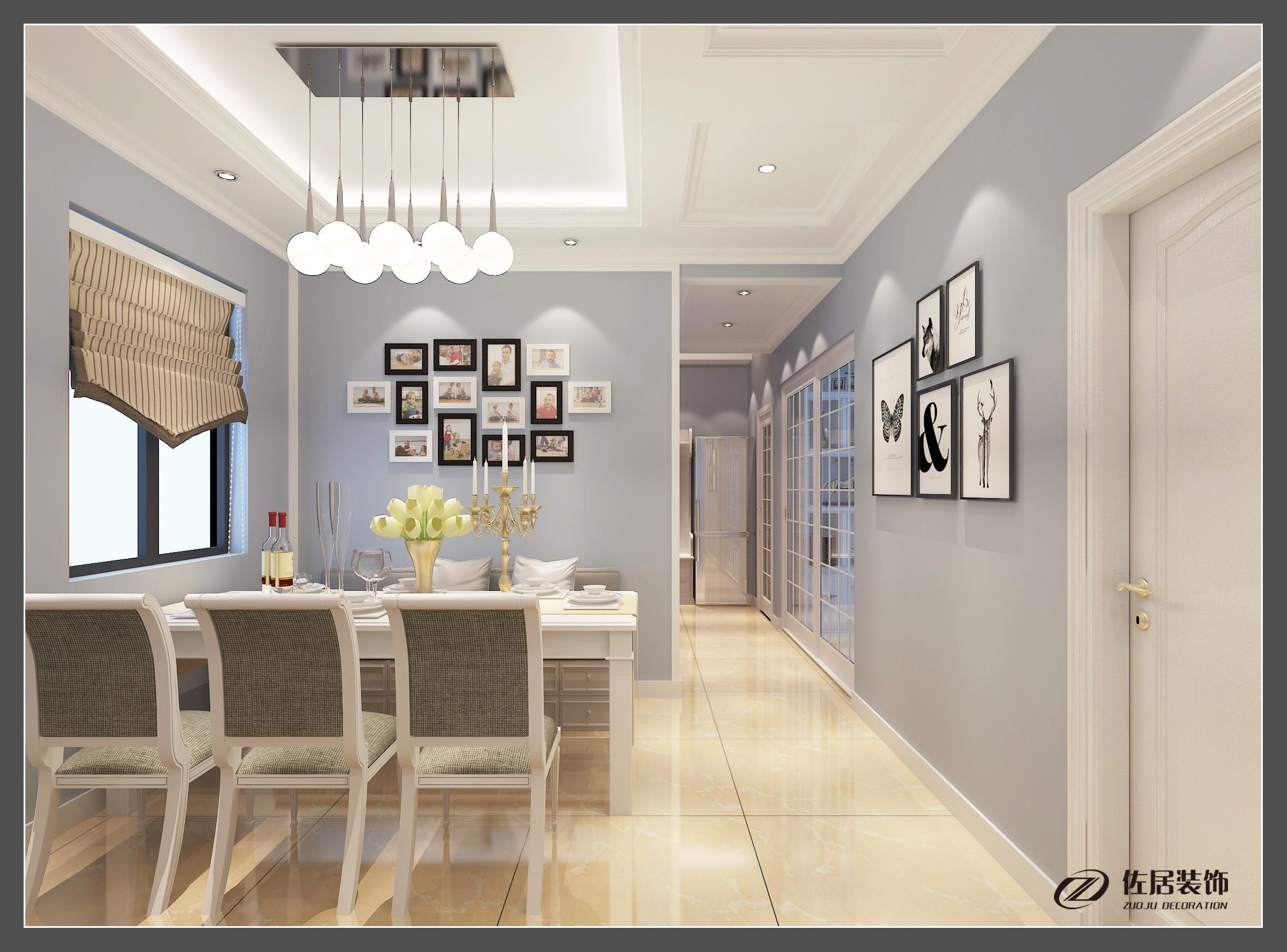 万宏国际现代简约风格三居装修效果图
