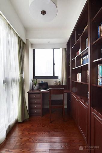 滨江景苑中式风格三居装修效果图