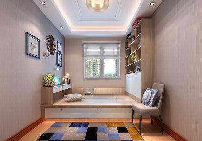 盈富家园二居现代简约风格二居家装效果图