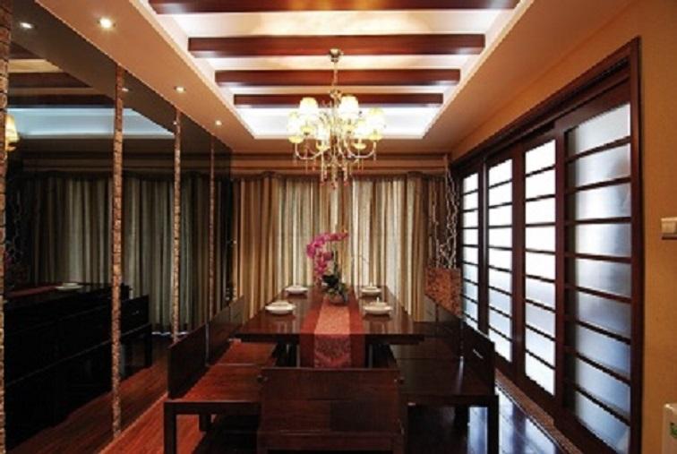 锦湖金利花园东南亚风格二居家装效果图