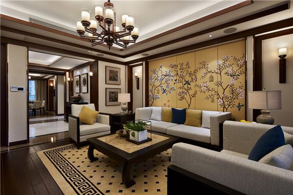 紫薇永和坊新中式风格三居室家装效果图