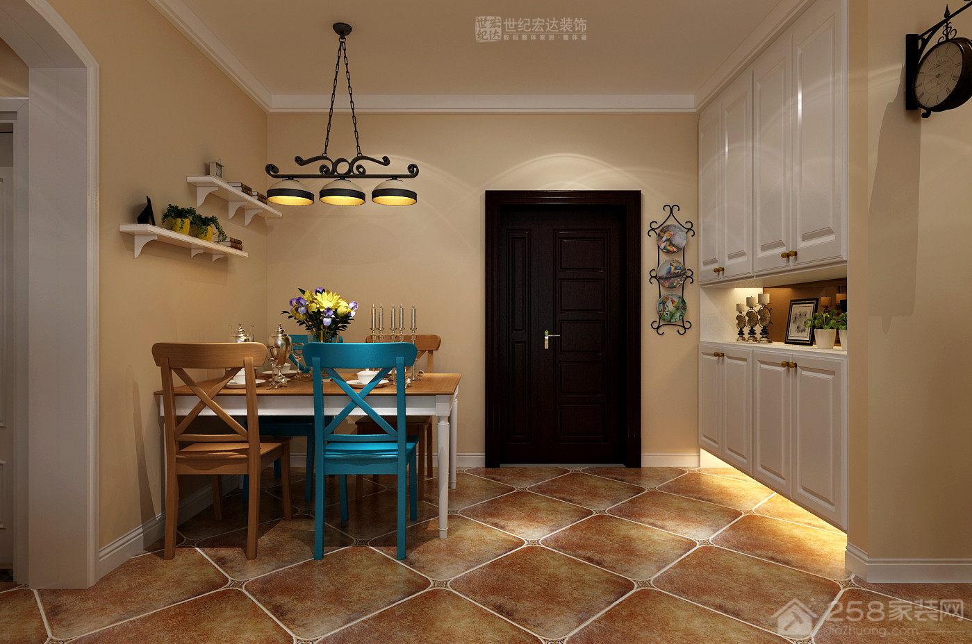 尚东1956+三室两厅一厨一卫装修效果图