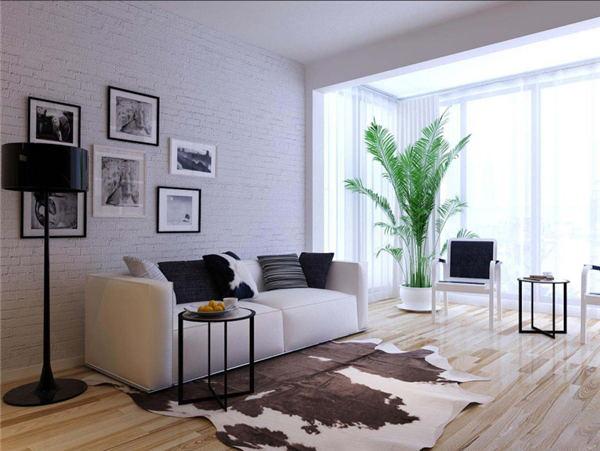 现代简约风格翡丽曲江两室装修效果图