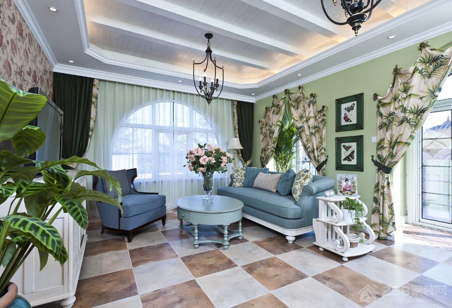 地中海 绿色的情怀家装效果图