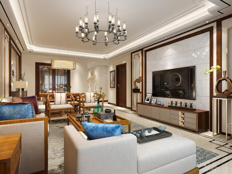 铜雀台 新中式家装效果图