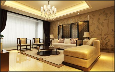 中海紫御公馆新中式风格家装效果图