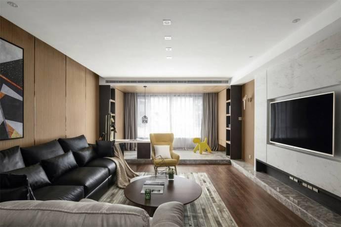 恒大世纪城三居室现代风格装修效果图