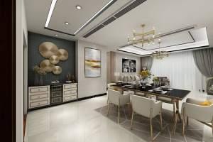 恒大城现代简约风格三居室家装效果图