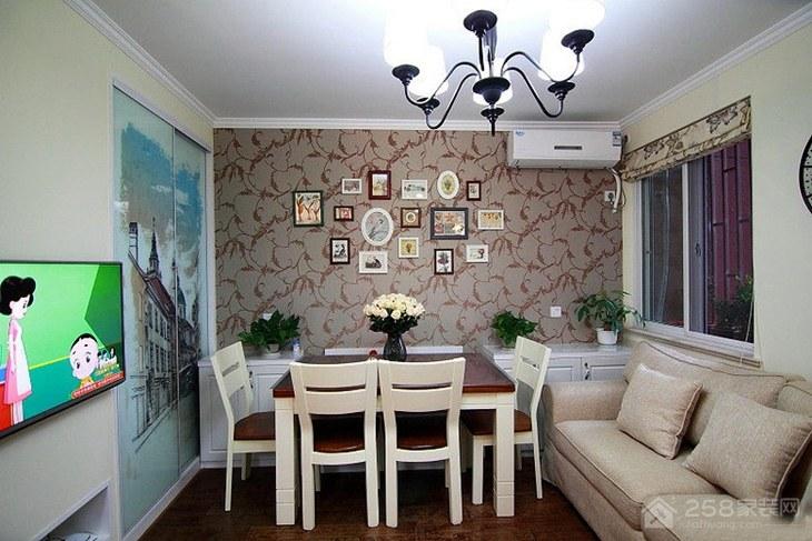 国际温泉城75m²—美式田园风家装效果图
