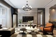 现代客厅北欧新古典曲线色彩别致客厅家装效果图