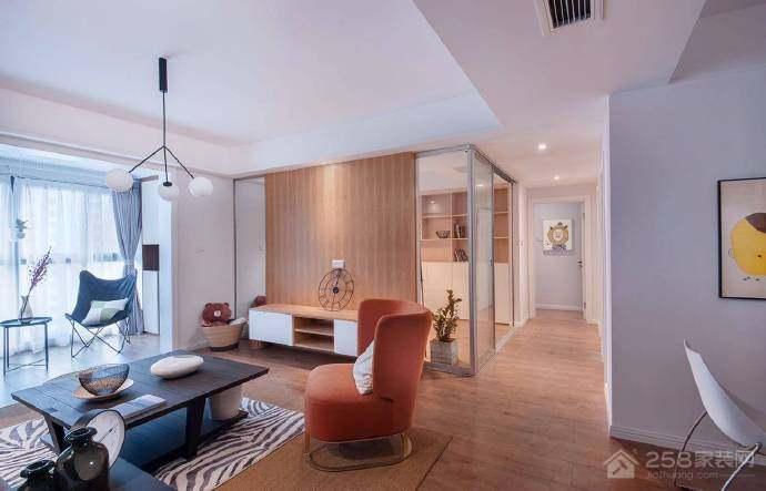 绿地城三居室北欧风格家装效果图