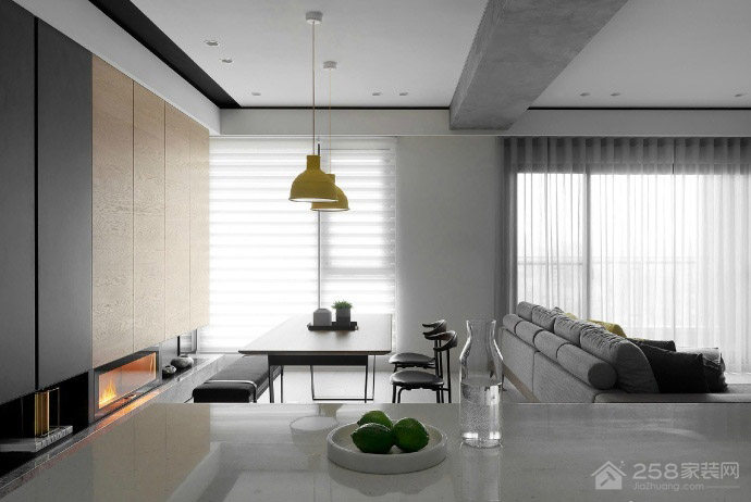 九境城 后现代风格三居家装效果图