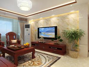 保利中心华府130平三居室中式风格装修效果图
