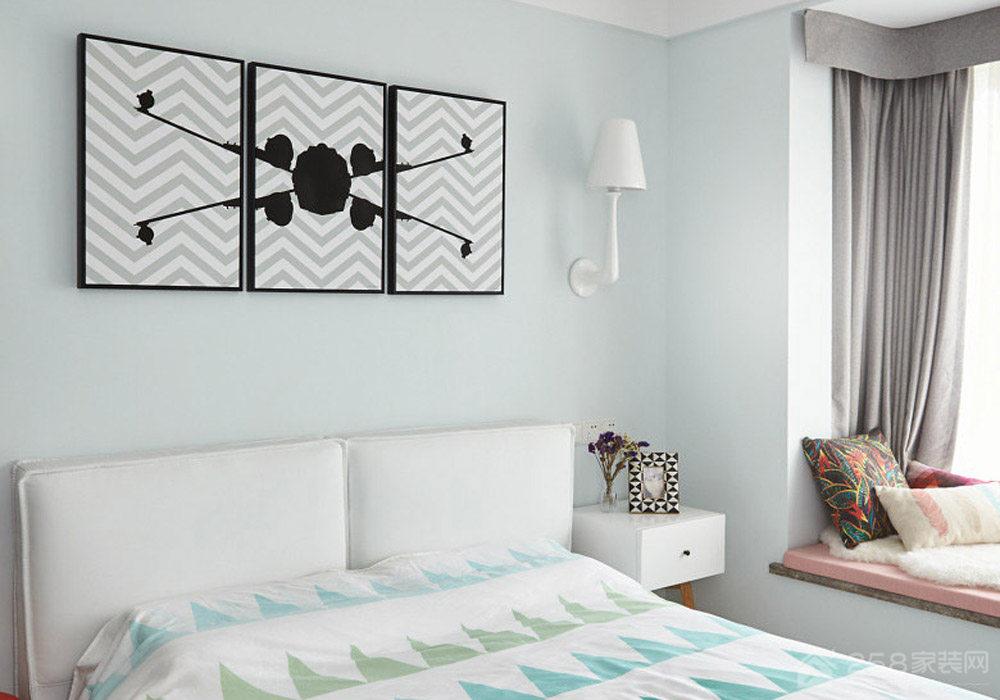 兴耀星悦湾-北欧风格-三居室装修效果图