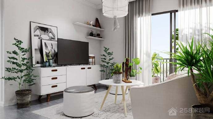 北岸江山两居室北欧风格装修效果图