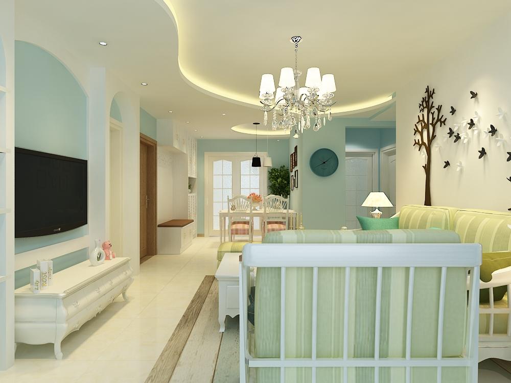 华润城紫御府115平三居室欧式风格装修效果图