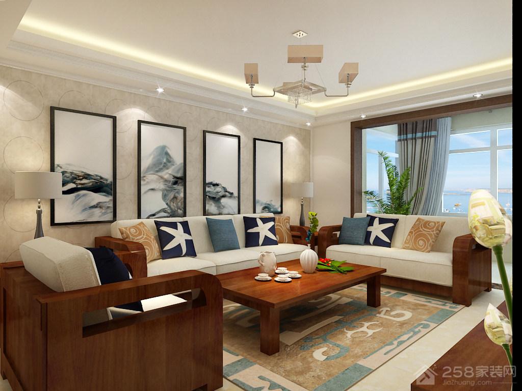 龙腾国际142平三居室中式风格装修效果图