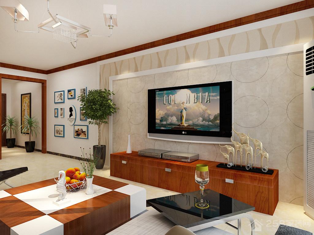 阳光100三居室138平中式风格装修效果图