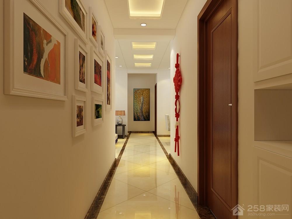 银丰公馆122平三居室新中式风格装修效果图
