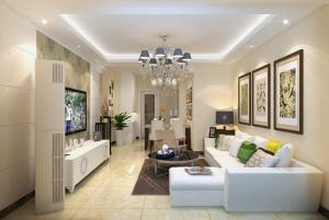 银丰公馆88平二居室简欧风格装修效果图