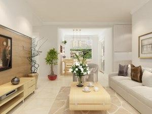 中海国际108平三居室北欧风格装修效果图