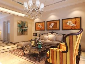 中海国际110平三居室欧式风格装修效果图