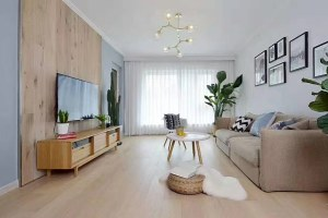 北欧风   三居室装修效果图