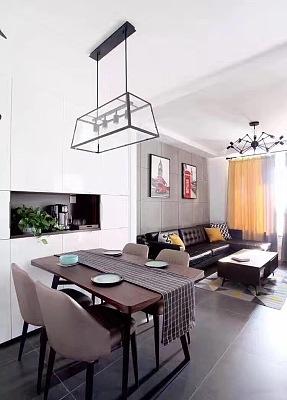 美式混搭   二居室装修效果图