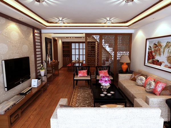 金林碧水中式客厅装修效果图