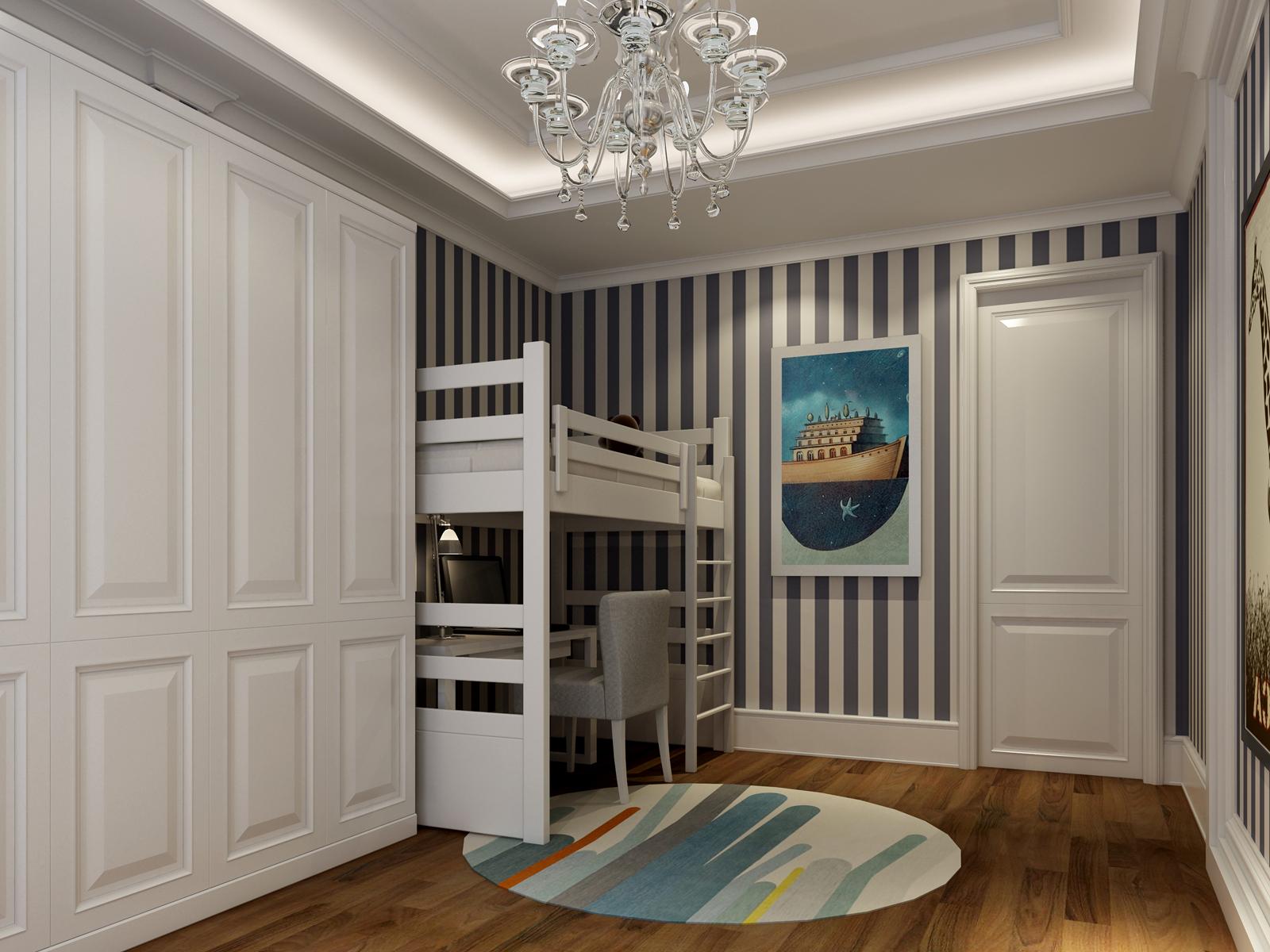 荷澜廷叠加别墅中式家装效果图