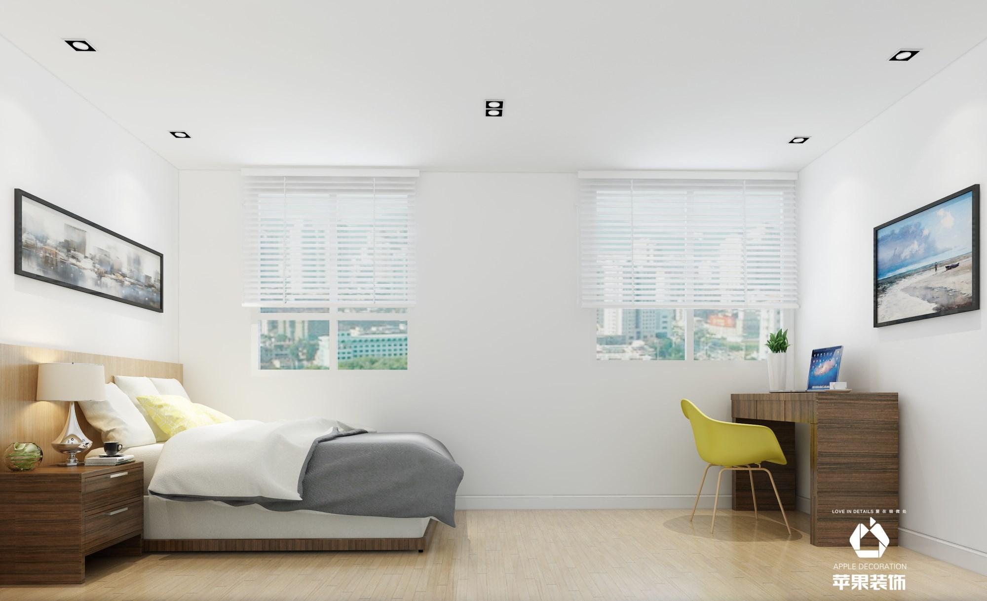 金地格林郡北欧风格两居室效果案例装修效果图