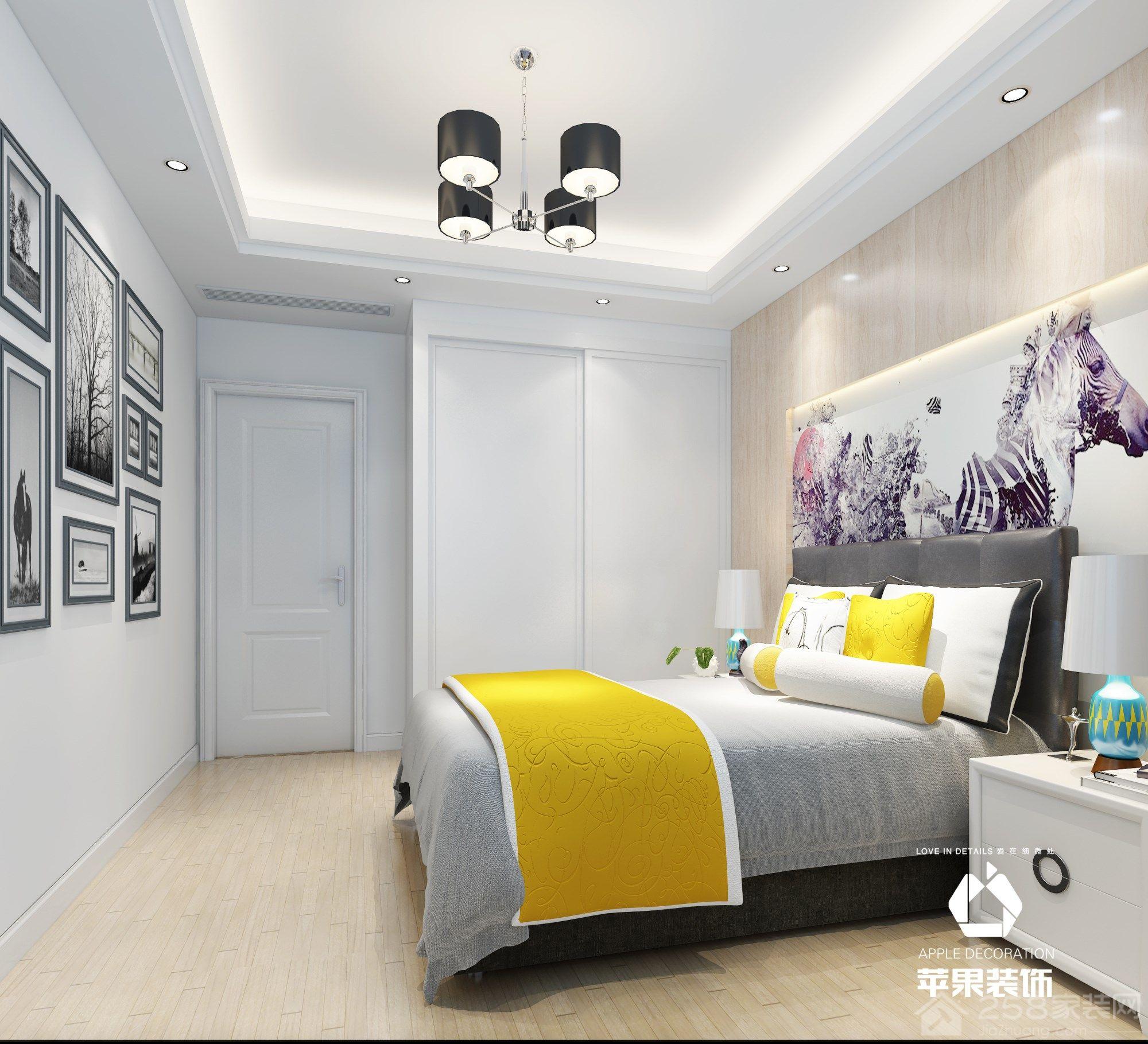 龙湖原山北欧风格三居室案例效果装修效果图