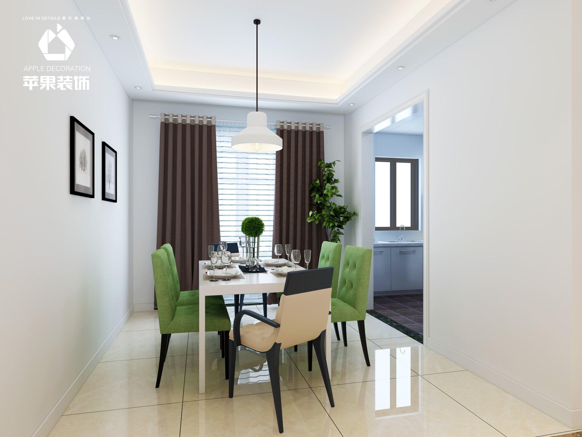 绿都万和城现代简约风格三居室案例效果