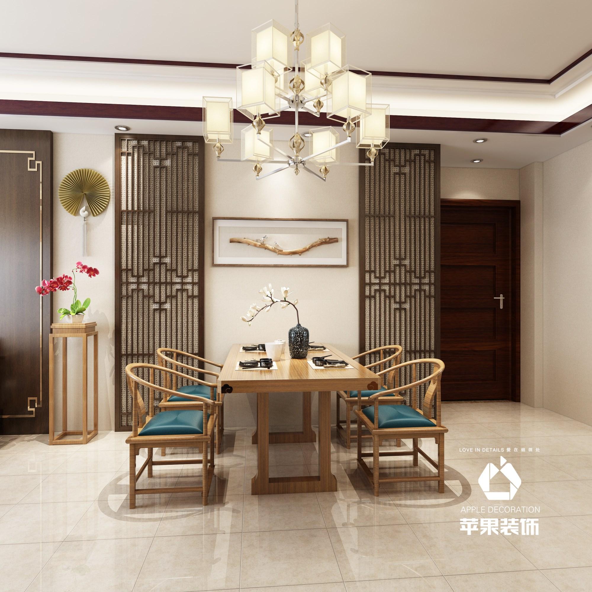 中海龙城公馆中式三居室案例效果装修效果图