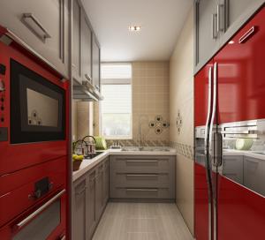 红星海笼筑1越2样板间混搭跃层式家装效果图