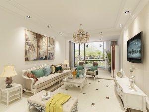 美域盛景欧式二居装修效果图